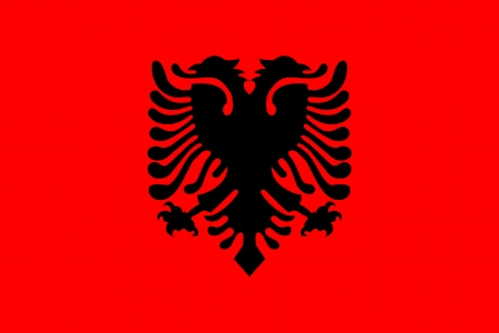 original and simple Albania flag isolated vector in official colors and Proportion Correctly Vector