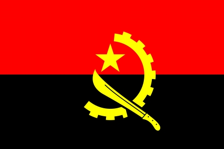 angola: original and simple of the Angola flag isolated vector in official colors and Proportion Correctly Illustration