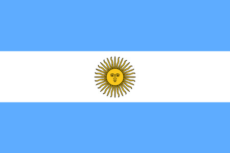 bandeira original e simples Argentina isolado do vetor em cores oficiais e Propor