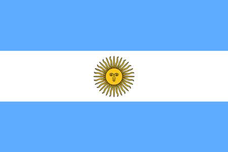 Originale e semplice Argentina bandiera isolato vettore in colori ufficiali e proporzione correttamente Archivio Fotografico - 23180076