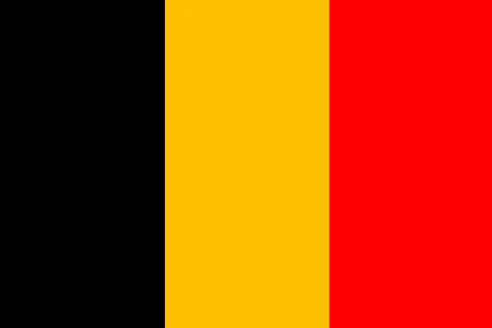 original and simple Belgium flag isolated vector in official colors and Proportion Correctly Vector