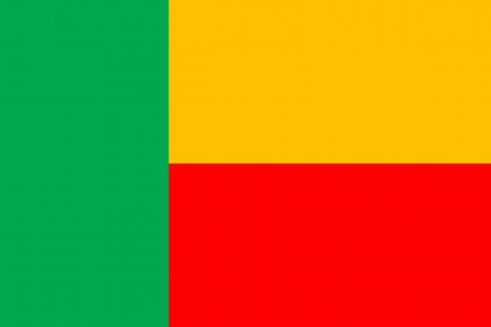 original and simple Benin flag isolated vector in official colors and Proportion Correctly Vector