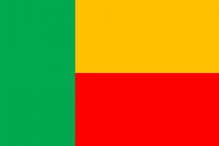 piedra laja: original y sencilla Benin bandera aislado vector en colores oficiales y la proporci�n correcta Vectores