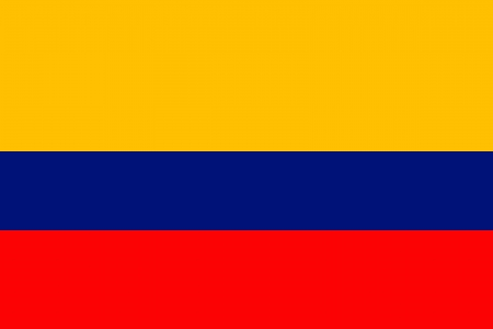 original and simple Colombia flag isolated vector in official colors and Proportion Correctly Vector
