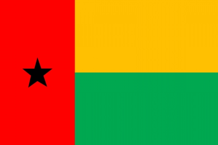 original and simple Guinea Bissau flag isolated vector in official colors and Proportion Correctly Vector
