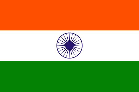 original and simple India flag isolated vector in official colors and Proportion Correctly Vector