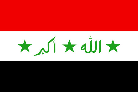 original and simple Iraq flag isolated vector in official colors and Proportion Correctly Vector