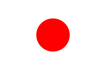 original and simple Japan flag isolated vector in official colors and Proportion Correctly Illustration