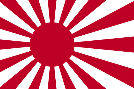 original and simple Japan flag isolated vector in official colors and Proportion Correctly and Proportion Correctly Vector