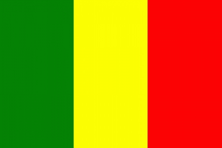 original and simple Mali flag isolated vector in official colors and Proportion Correctly Vector