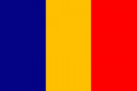 original and simple Romania flag isolated vector in official colors and Proportion Correctly