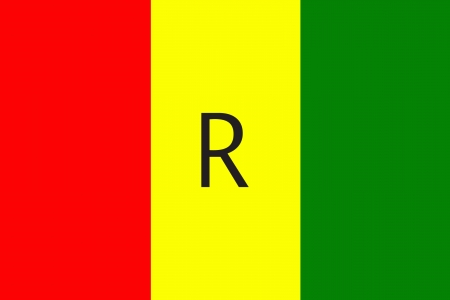 bandeira original e simples Rawanda isolado do vetor em cores oficiais e Propor