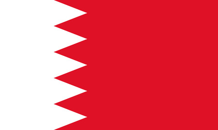 bandeira Bahrain isolado vector original e simples em cores oficiais e Propor Ilustra��o