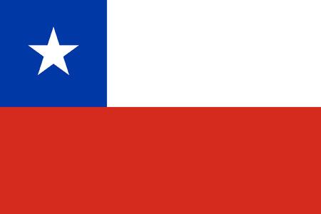 bandera de chile: original y sencilla Chile bandera aislado vector en colores oficiales y la proporción correcta Vectores