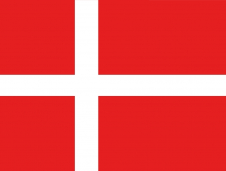 proportion: original and simple Denmark flag isolated vector in official colors and Proportion Correctly Illustration