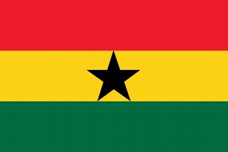 bandeira Gana isolado vector original e simples nas cores oficiais e propor