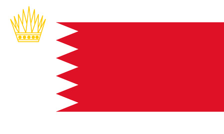 correctly: original and simple Royal Standard of Bahrain flag isolated vector in official colors and Proportion Correctly