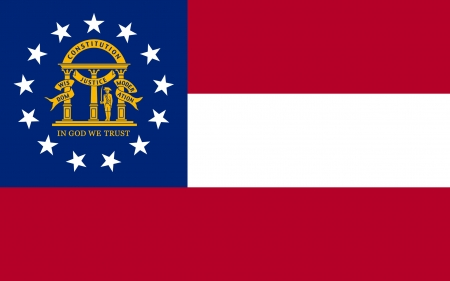 correctly: original and simple U S  state of Georgia   the United States of America State Georgia flag isolated vector in official colors and Proportion Correctly