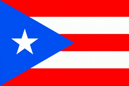 puerto rican flag: original and simple Puerto Rico flag isolated vector in official colors and Proportion Correctly Illustration