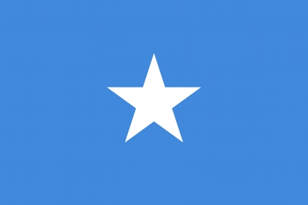 correctly: original and simple Somalia flag isolated vector in official colors and Proportion Correctly Illustration