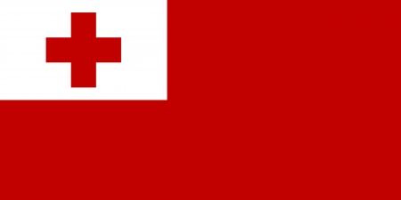 correctly: original and simple Tonga flag isolated vector in official colors and Proportion Correctly