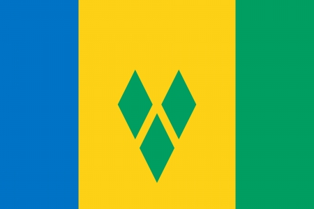 correctly: original and simple Saint Vincent and The Grenadines flag isolated vector in official colors and Proportion Correctly