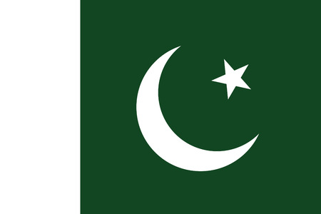 original and simple Pakistan flag isolated vector in official colors and Proportion Correctly  The Crescent and Star Flag