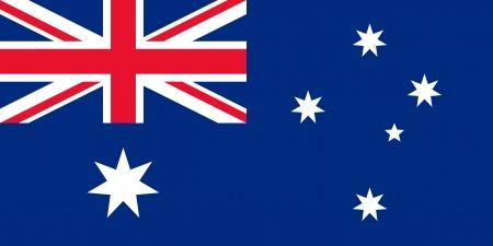 bandeira original e simples Austr