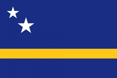proportion: original and simple Curacao flag isolated vector in official colors and Proportion Correctly Illustration