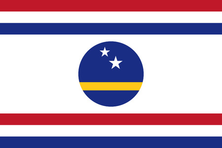 correctly: original and simple Curacao Governor s Standard flag isolated vector in official colors and Proportion Correctly