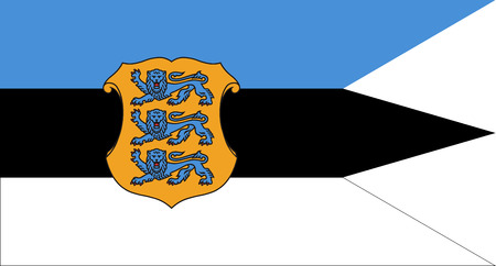 correctly: original and simple Estonia Naval flag isolated vector in official colors and Proportion Correctly Illustration
