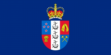 spangled: original and simple Governor-General of New Zealand flag isolated vector in official colors and Proportion Correctly