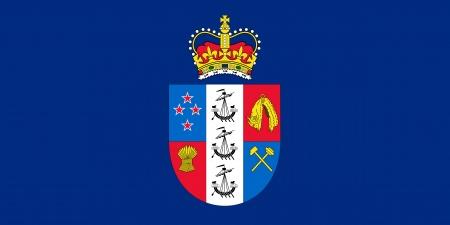 new zealand flag: originale e semplice governatore generale della Nuova Zelanda bandiera isolato vettore in colori ufficiali e proporzione correttamente Vettoriali