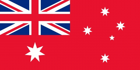 correctly: original and simple The Australian merchant flag or Australian Red flag or Nauru flag  1948-1968  isolated vector in official colors and Proportion Correctly
