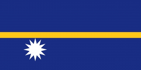 correctly: original and simple Nauru flag isolated vector in official colors and Proportion Correctly Illustration