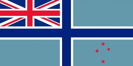 bandeira original e simples Nova Zel Ilustra��o