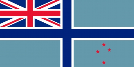 correctly: original and simple New Zealand Civil Air flag isolated vector in official colors and Proportion Correctly Illustration