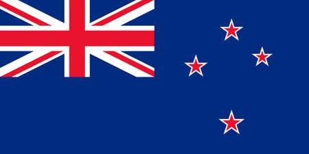 new zealand flag: Bandiera della Nuova Zelanda isolato vettore originale e semplice in colori ufficiali e Proporzione correttamente
