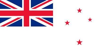 australis: original and simple New Zealand Naval flag isolated vector in official colors and Proportion Correctly