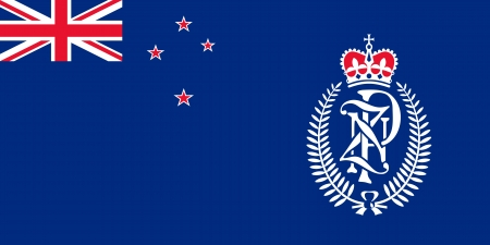 australis: original and simple New Zealand Police flag isolated vector in official colors and Proportion Correctly Illustration