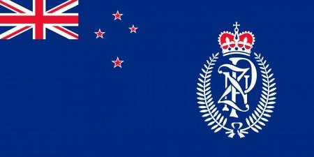 bandera de nueva zelanda: original y sencilla Zelanda Policía pabellón aislado vector Nuevo en colores oficiales y la proporción correcta Vectores