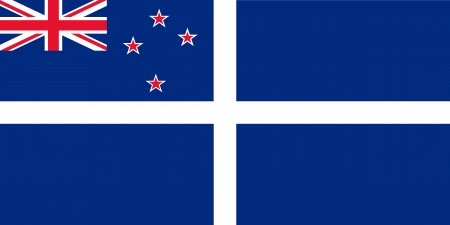 proportion: original and simple New Zealand Yacht flag isolated vector in official colors and Proportion Correctly
