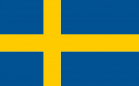sweden flag: original and simple Sweden flag isolated vector in official colors and Proportion Correctly