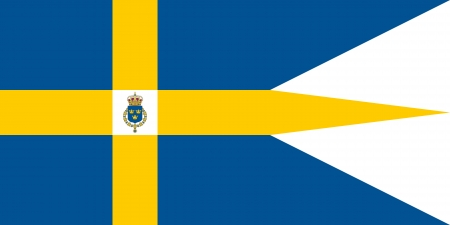 correctly: original and simple Sweden Royal Family flag isolated vector in official colors and Proportion Correctly