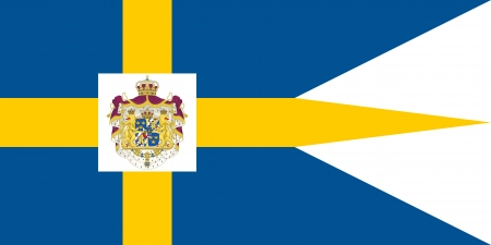 correctly: original and simple Sweden Royal Standard flag isolated vector in official colors and Proportion Correctly Illustration