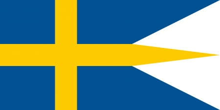 correctly: original and simple Sweden Naval and War flag isolated vector in official colors and Proportion Correctly