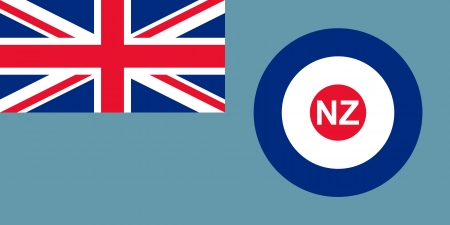 australis: original and simple the Royal New Zealand Air Force flag isolated vector in official colors and Proportion Correctly