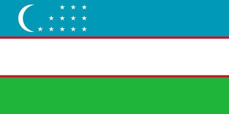 bandeira original e simples Uzbequist