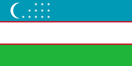 correctly: original and simple Uzbekistan flag isolated vector in official colors and Proportion Correctly