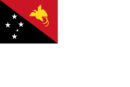 correctly: original and simple Papua New Guinea flag isolated vector in official colors and Proportion Correctly  Papua new Guinea Naval flag